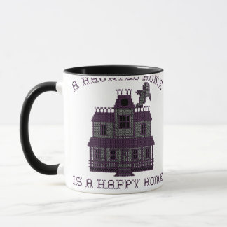 A Haunted Home is a Happy Home Cross Stich Mug
