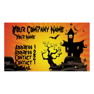 A Haunted House Business Card Templates