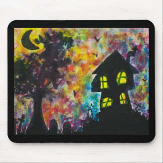 A Haunted Night Mouse Pad