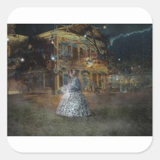 A Haunted Tale in Dahlonega Square Sticker