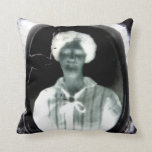 """A Haunting Image"" Gravestone Pillow"