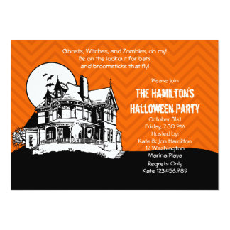 A Haunting Spooky Halloween Party Personalized Announcement