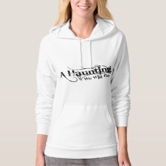 A Haunting We Will Go LLC Black Logo Front Hoodie