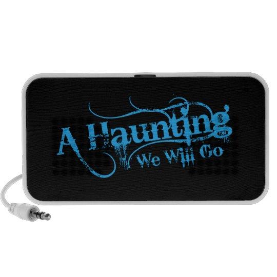 A Haunting We Will Go LLC Blue Logo Mini Speaker
