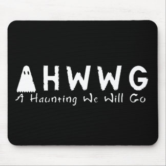 A Haunting We Will Go LLC Ghost Logo Mouse Pad