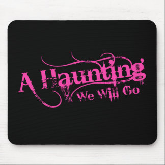 A Haunting We Will Go LLC Pink Logo Mouse Pad