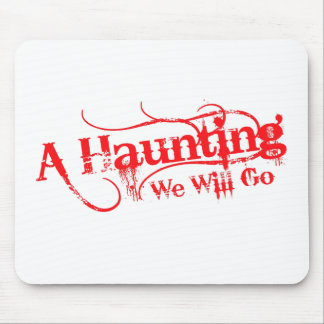 A Haunting We Will Go LLC Red Logo Mouse Pad