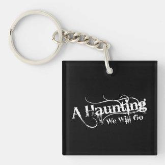 A Haunting We Will Go LLC White Logo Keychain