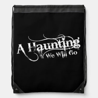 A Haunting We Will Go LLC White Logo Backpack