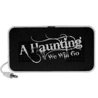 A Haunting We Will Go LLC White Logo Speakers