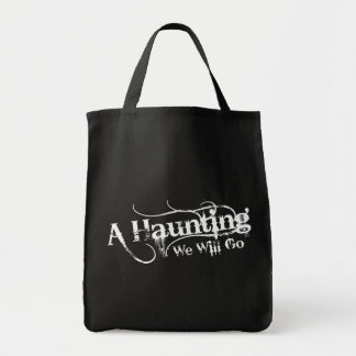 A Haunting We Will Go LLC White Logo Tote Grocery Tote Bag