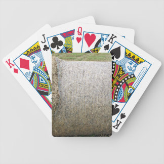 A Hay bale Bicycle Poker Cards