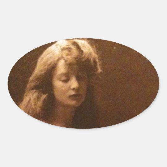 A hazy Victorian daydream Oval Sticker