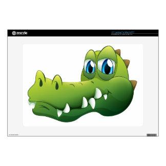 "A head of a crocodile 15"" laptop skin"