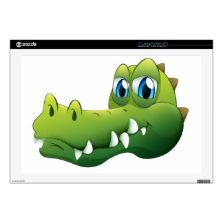 A head of a crocodile laptop decal