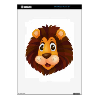 A head of a lion decals for the iPad 2