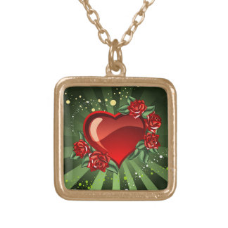 A Heart and Roses Jewelry