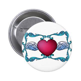 A heart decor button