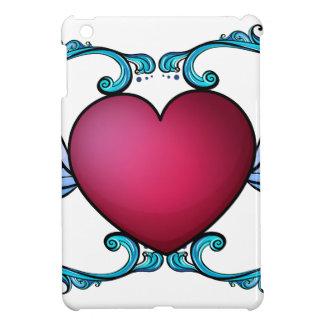 A heart decor iPad mini cover