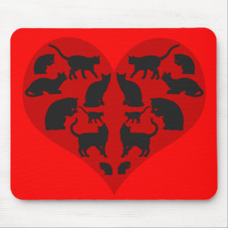 A Heart For Cats Mouse Pad
