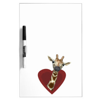 A Heart For Giraffes Dry Erase Board