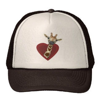 A Heart For Giraffes Trucker Hat
