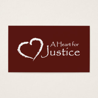 A Heart for Justice cards