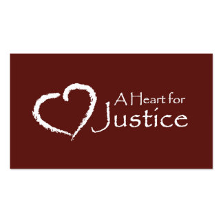 A Heart for Justice cards Business Card