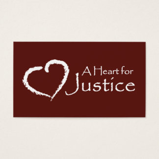 A Heart for Justice cards (maroon)