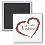 A Heart for Justice magnet