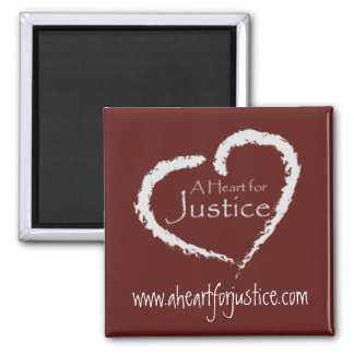 A Heart for Justice magnet (maroon)
