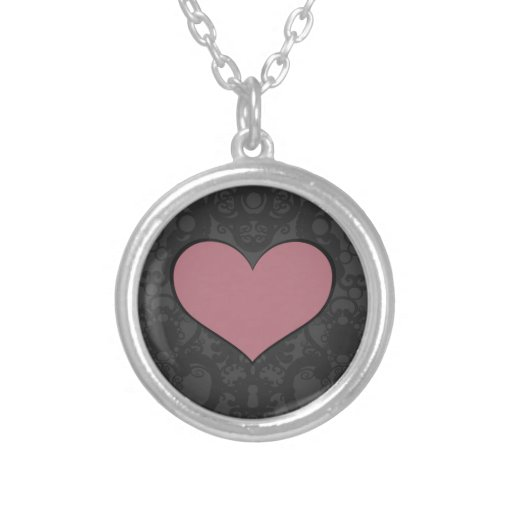 A Heart III Round Pendant Necklace