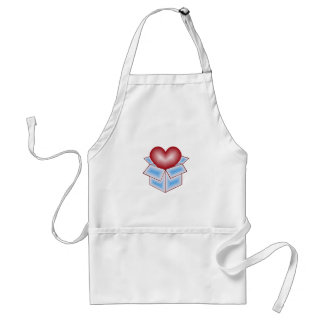A Heart in a Gift Box - Blue Aprons