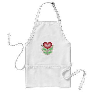 A Heart in a Gift Box - Green Apron