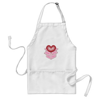 A Heart in a Gift Box - Pink Aprons