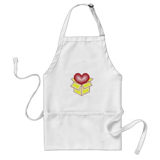 A Heart in a Gift Box - Yellow Apron