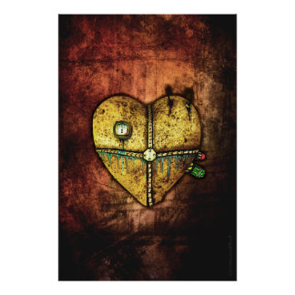 A Heart Less Broken Gothic Art Poster