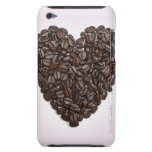 A heart made of coffee beans barely there iPod cases