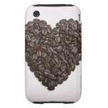 A heart made of coffee beans tough iPhone 3 covers
