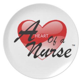 A Heart of a Nurse Dinner Plate