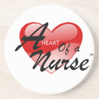 A Heart of a Nurse Drink Coaster