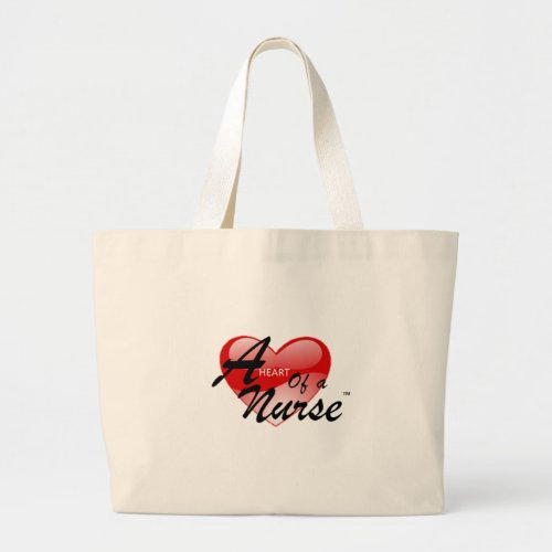 A Heart of a Nurse Large Tote Bag