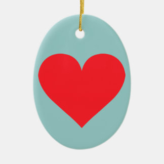 A Heart of Love and Affection Ceramic Ornament