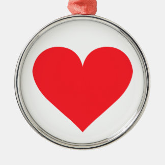 A Heart of Love and Affection Metal Ornament