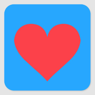 A Heart of Love and Affection Square Sticker