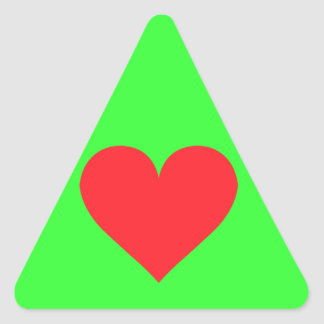 A Heart of Love and Affection Triangle Sticker