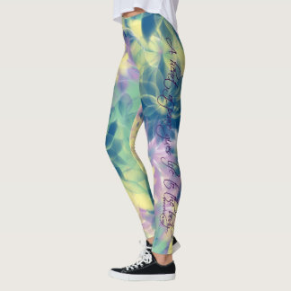 """""""A heart of peace gives life to the body"""" leggings"""