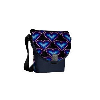 A Heart Pattern 3 Messenger Bag