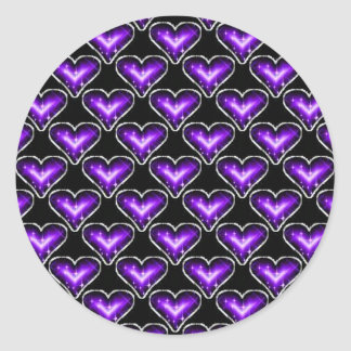 A Heart Pattern Round Stickers