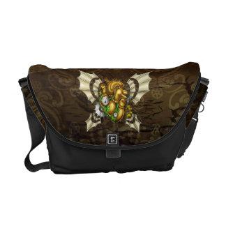 A Heart to Take Flight Rickshaw Bag -- Green Courier Bags